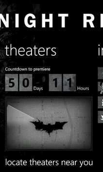 The Dark Knight Rises Nokia Lumia Screenshot