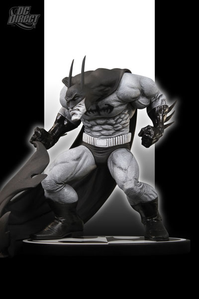Batman Black and White Statue by Sam Keith