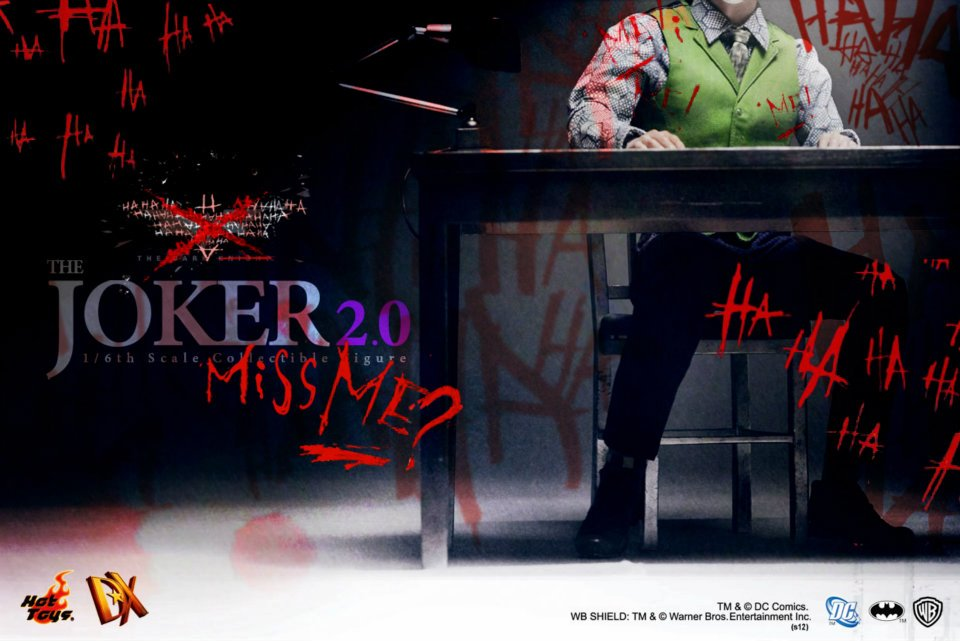 Hot Toys The Dark Knight Joker 2.0 Teaser