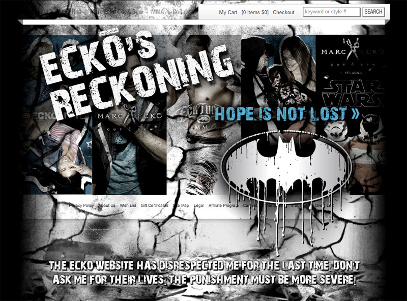 Ecko Bane Website Takeover
