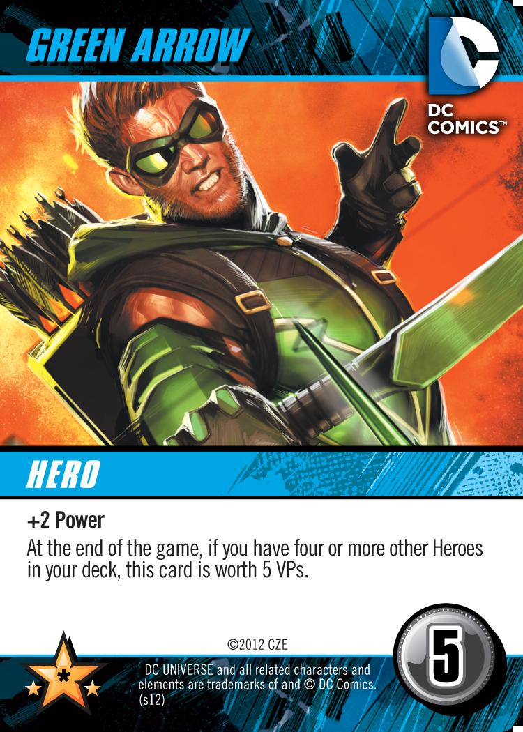 DC Comics Deck-Building Game Card