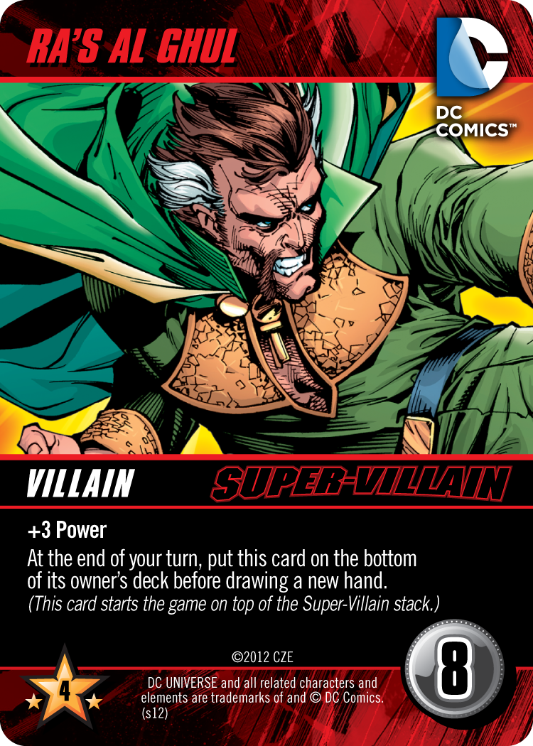 DC Comics Deck-Building Game Card