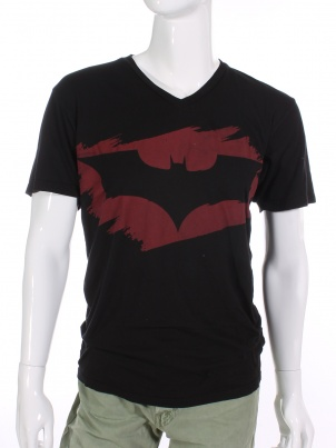 The Dark Knight Rises T-Shirt Red/Black Bat
