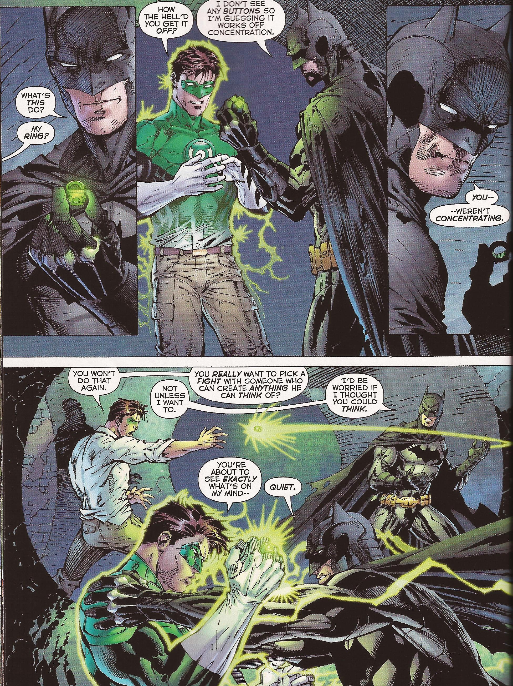 Batman Takes Lantern Rings