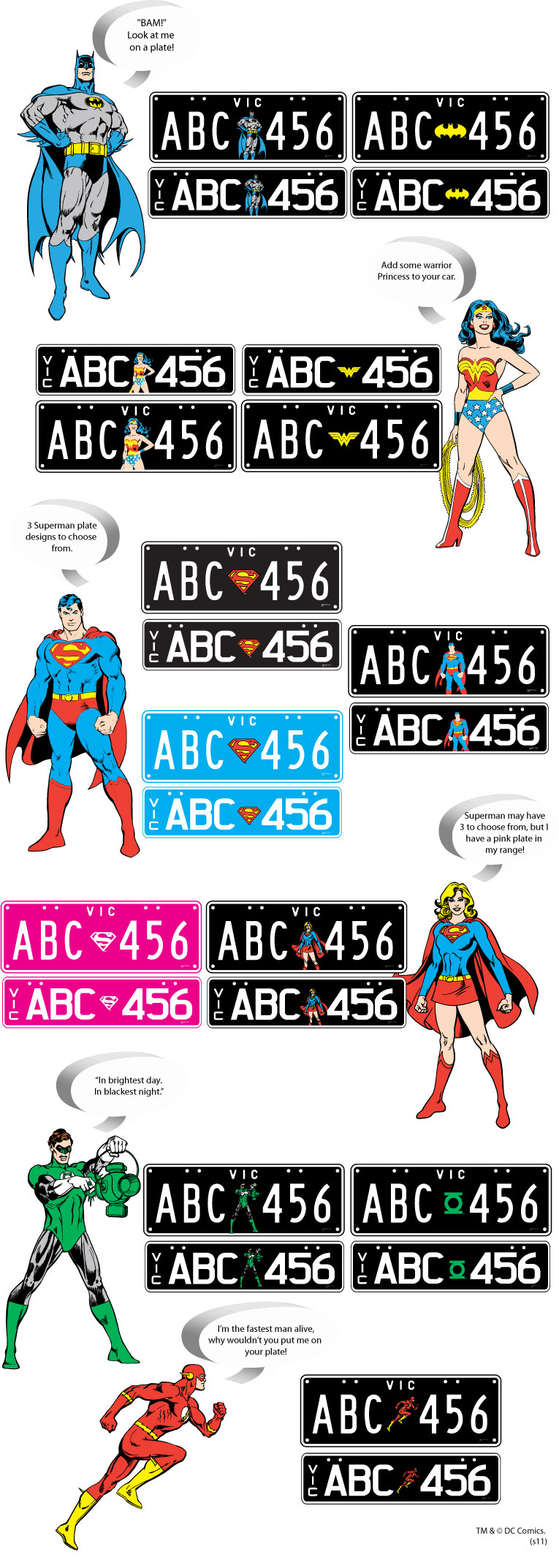 DC Comics License Plates