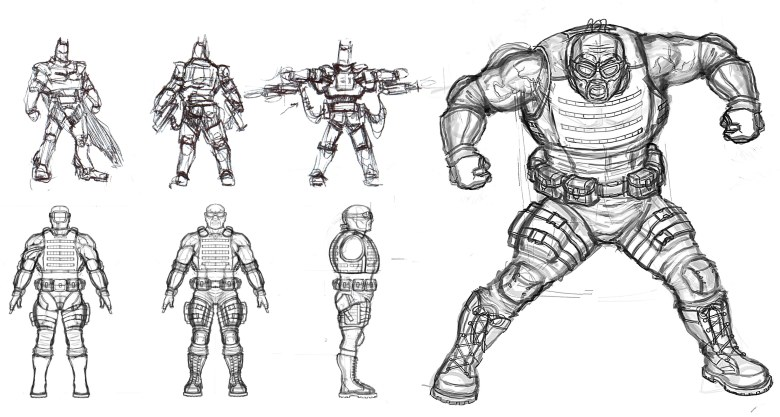 Batman/Bane Concept Art