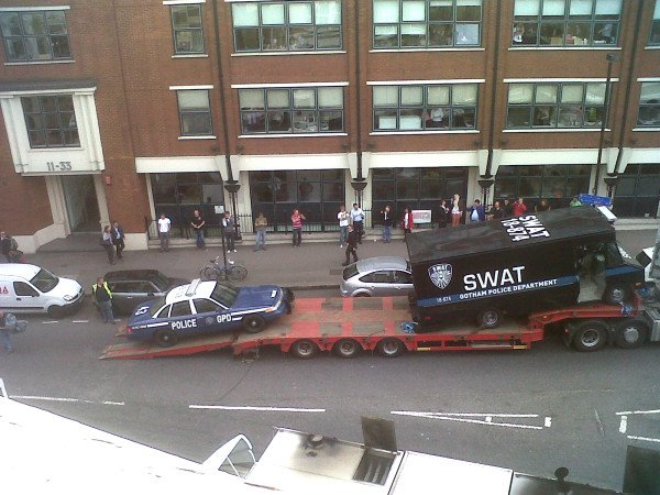 The Dark Knight Rises London Shoot Police Vehicles