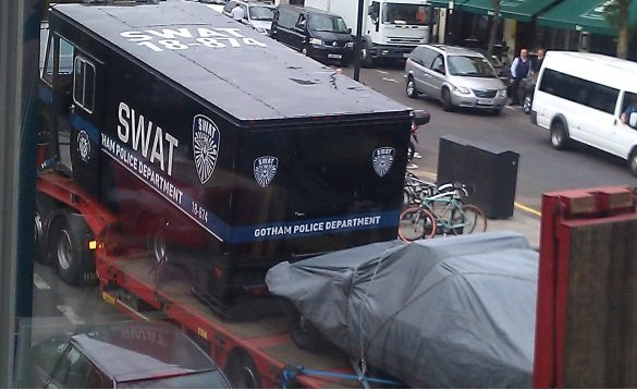 The Dark Knight Rises London Shoot Swat Truck