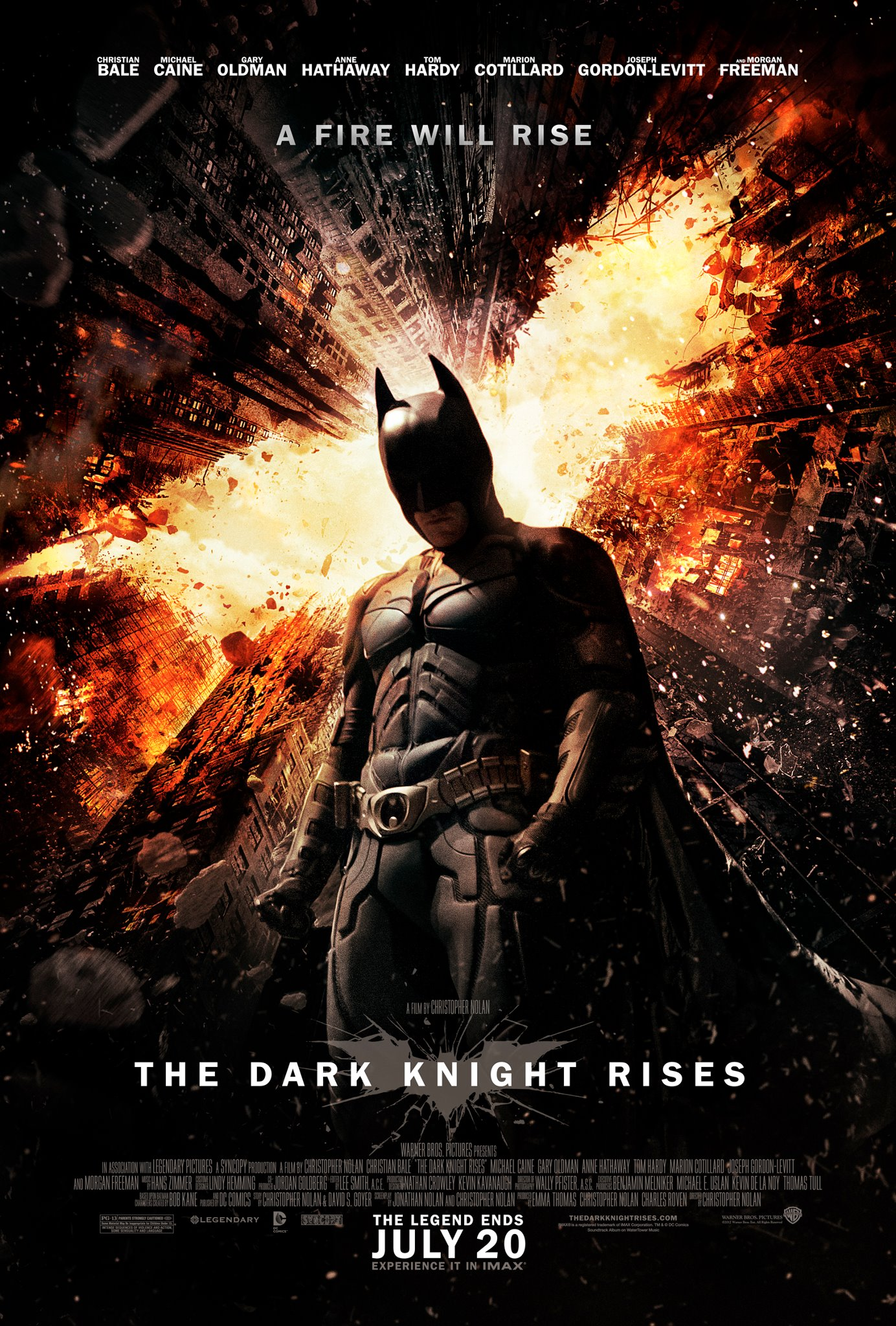 The Dark Knight Rises Fire Rises Poster