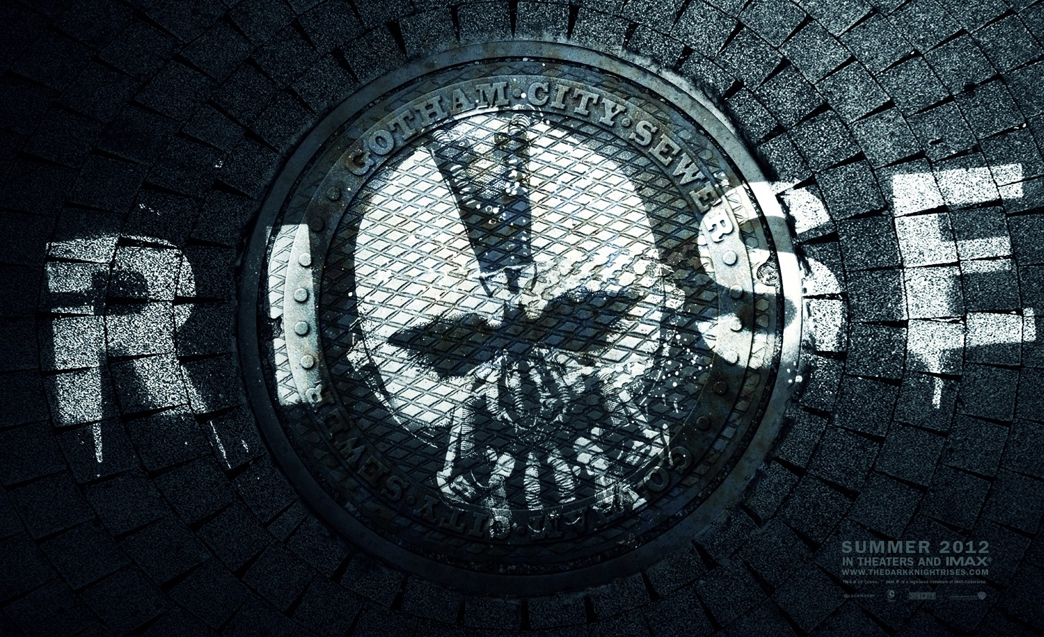 The Dark Knight Rises Sewer Rise Poster