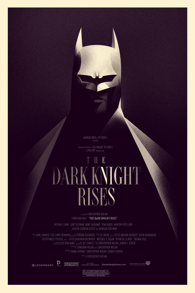 Mondo Olly Moss The Dark Knight Rises Print
