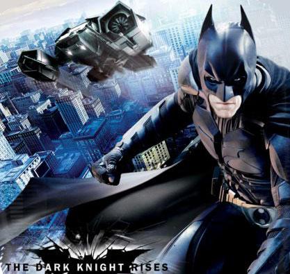 The Dark Knight Rises Promo Art-Batman and the Bat
