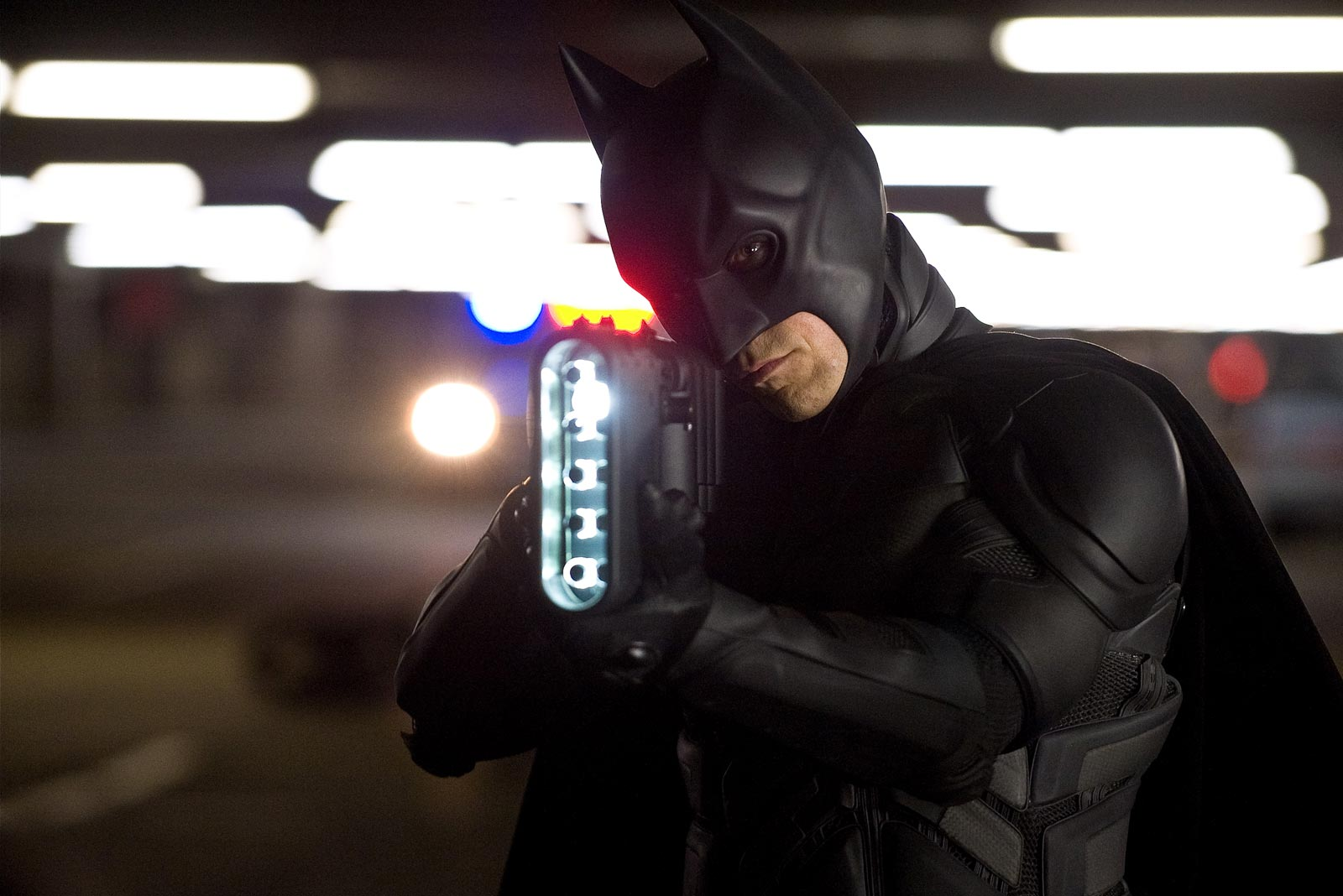 The Dark Knight Rises Still-Batman with Light Gun