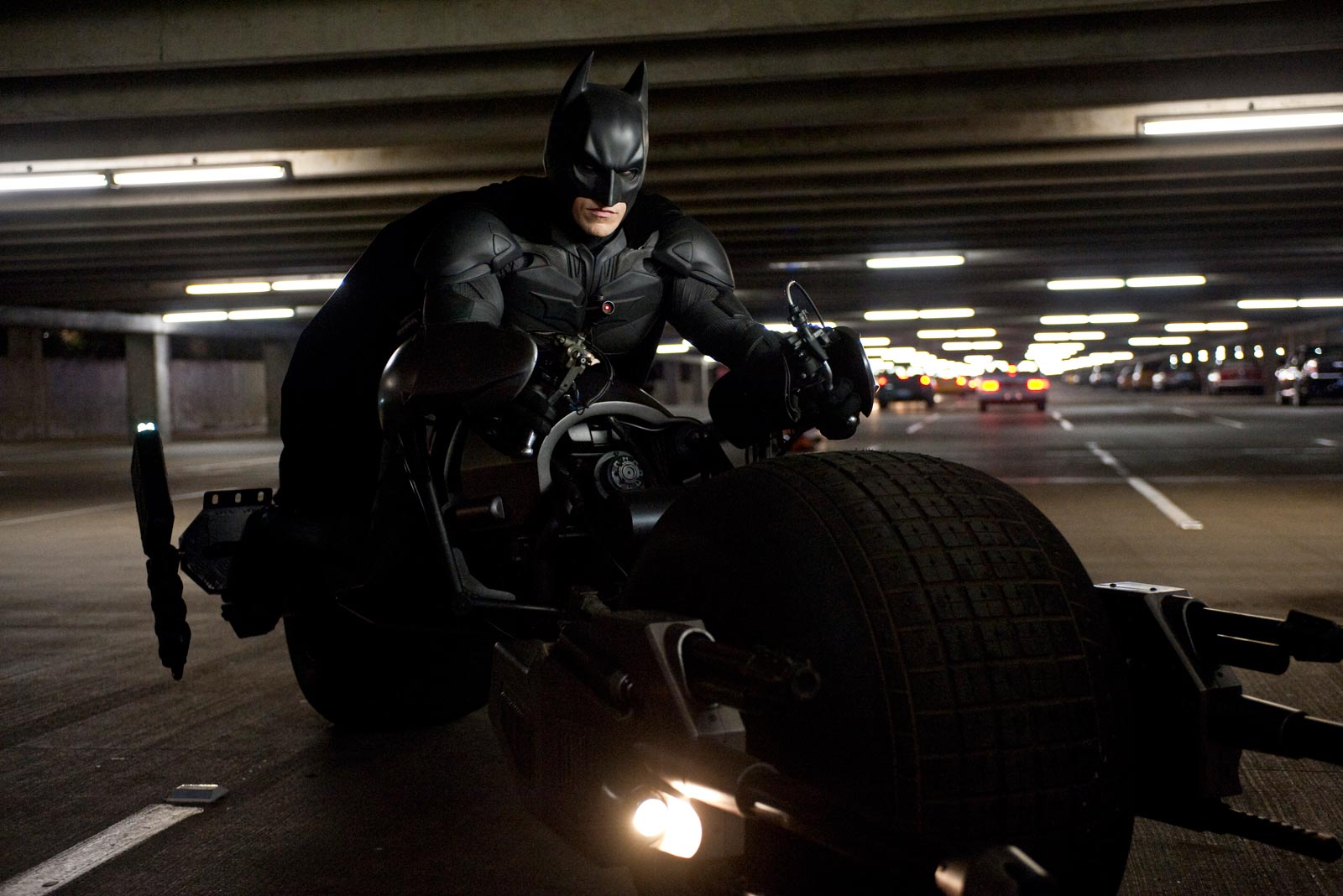 The Dark Knight Rises Still-Batman on Bat-Pod