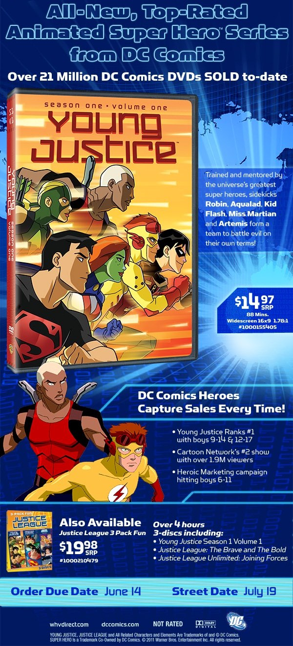 Young Justice Season 1 Volume 1 Trade Ad