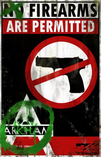 Batman: Arkham City Firearms Poster