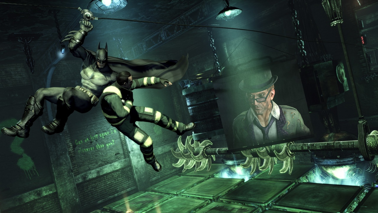 Batman: Arkham City Screenshot-Riddler