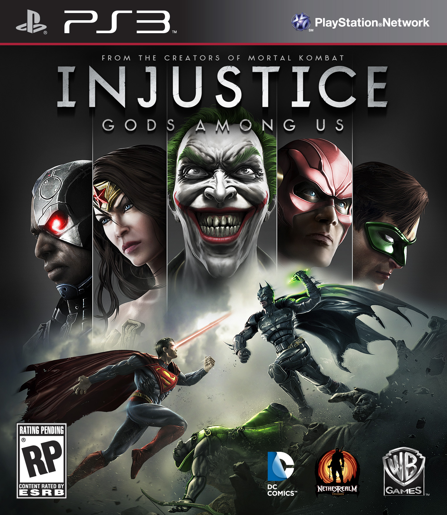 Injustice: Gods Among Us PS3 Cover