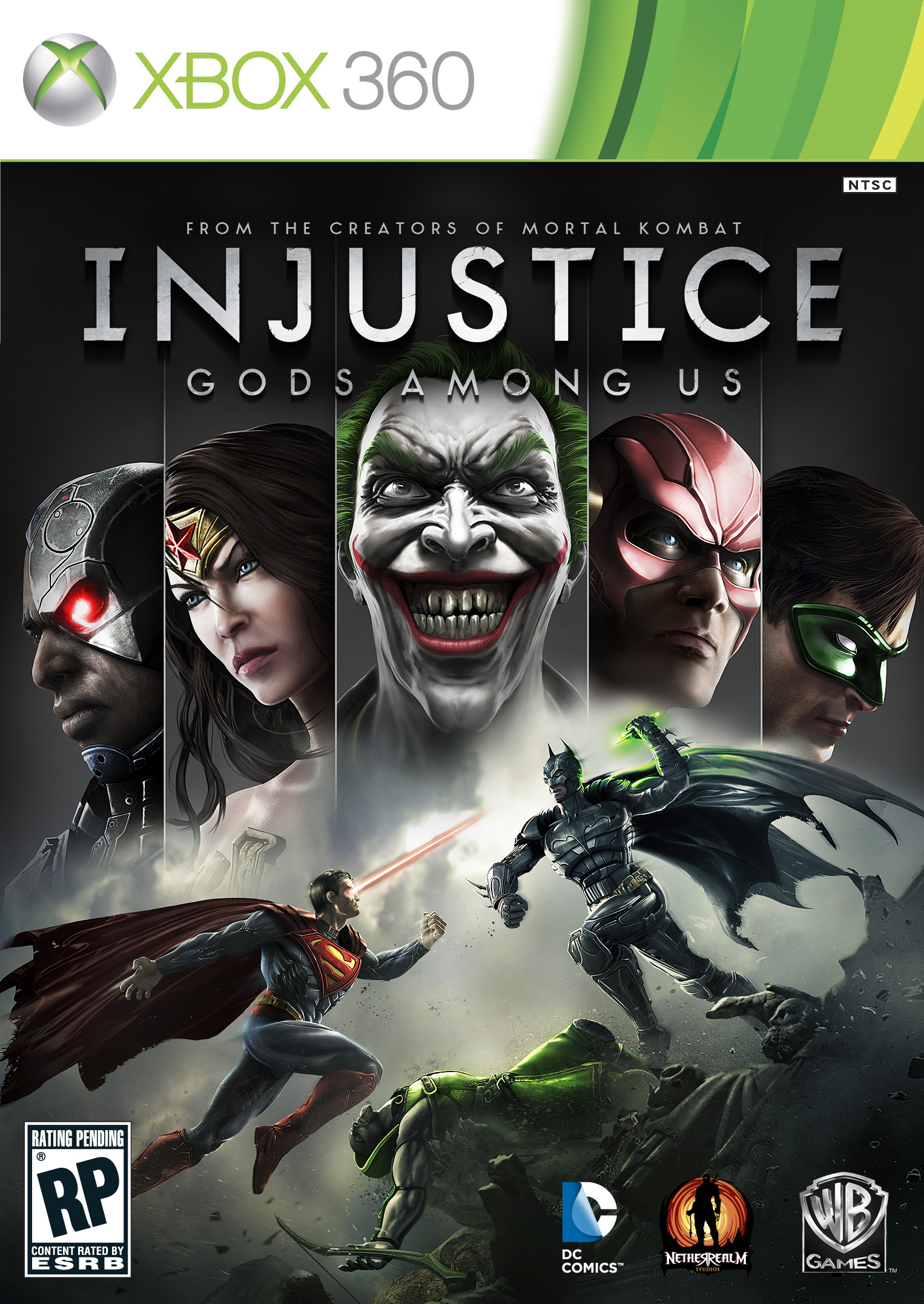 Injustice: Gods Among Us Xbox 360 Cover