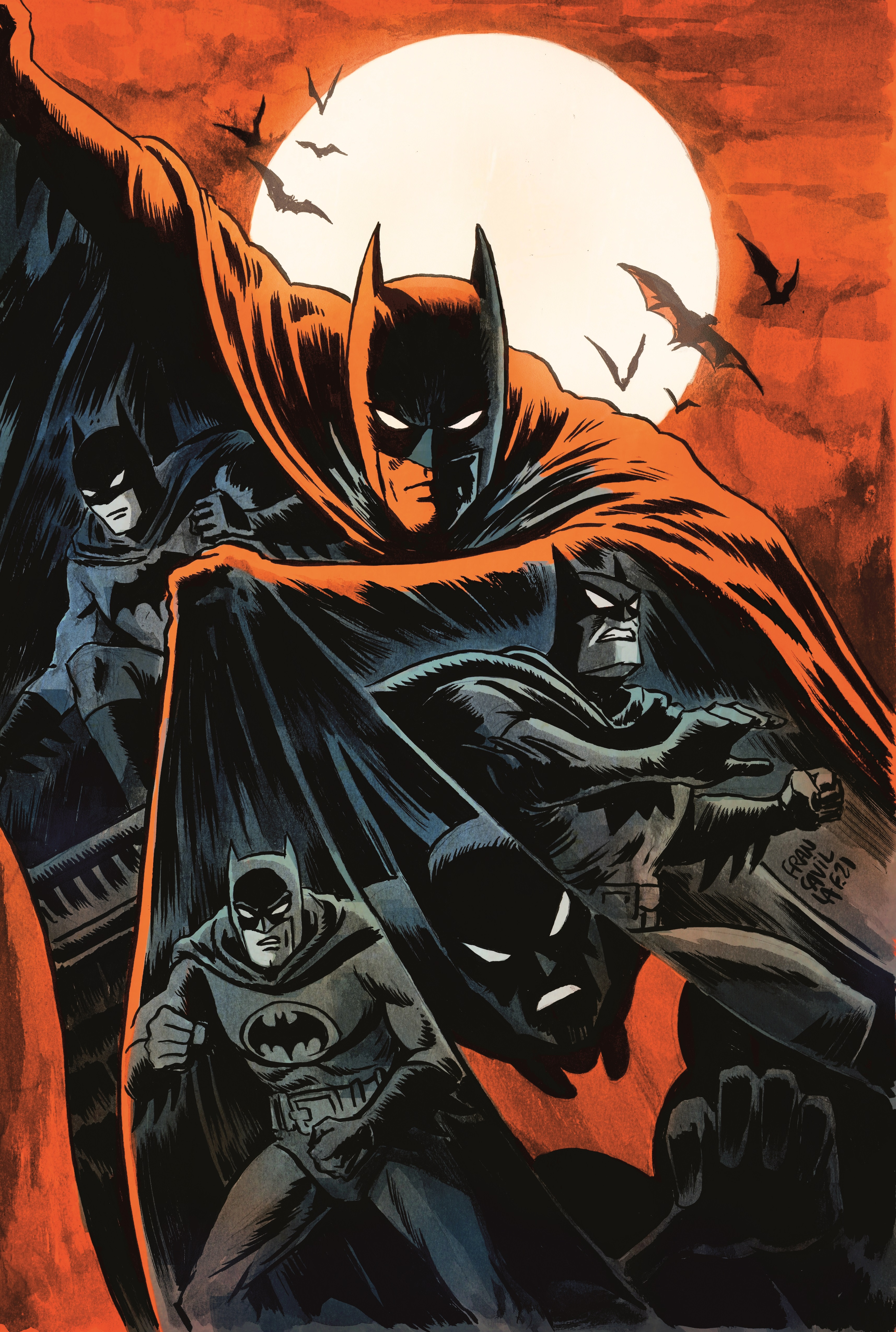 Legends of the Dark Knight #1 Francesco Francavilla 'Teams