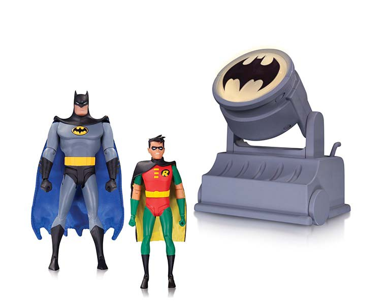 BATMAN: THE ANIMATED SERIES BATMAN AND ROBIN WITH BAT-SIGNAL ACTION FIGURE 2-PACK $70