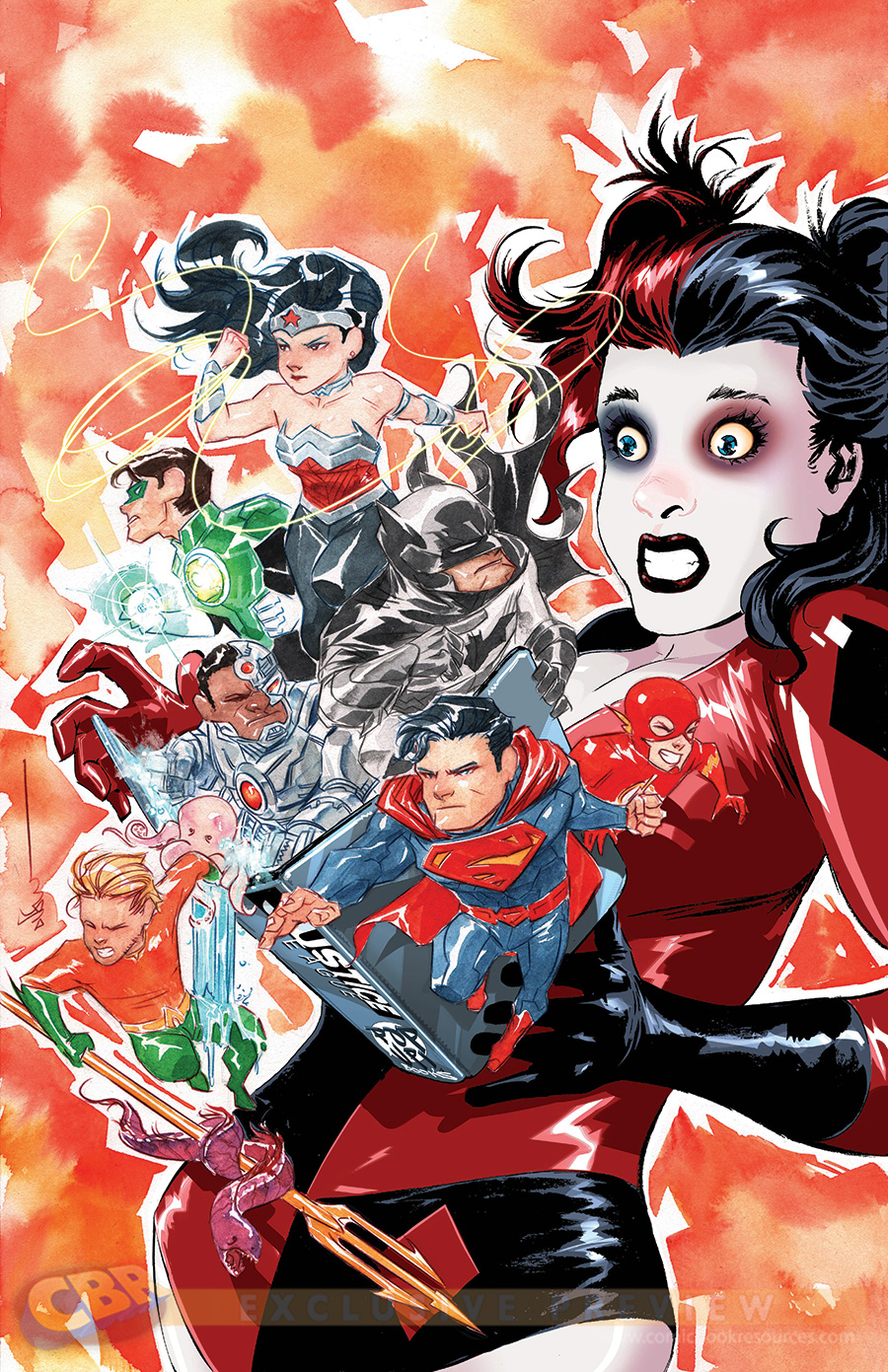 Justice League #39 by Dustin Nguyen & CV Painting
