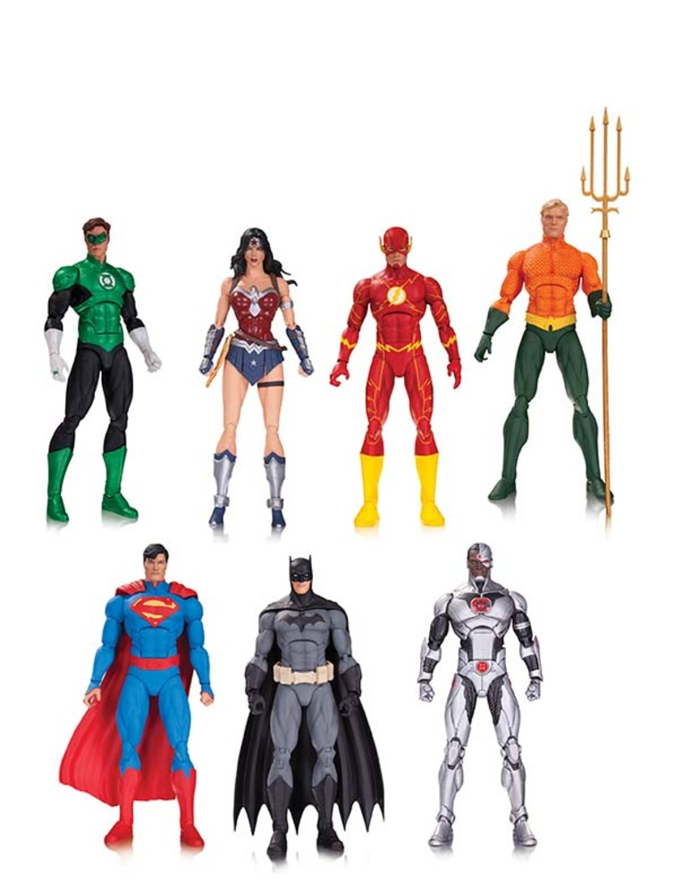 JUSTICE LEAGUE OF AMERICA ACTION FIGURE 7-PACK $125