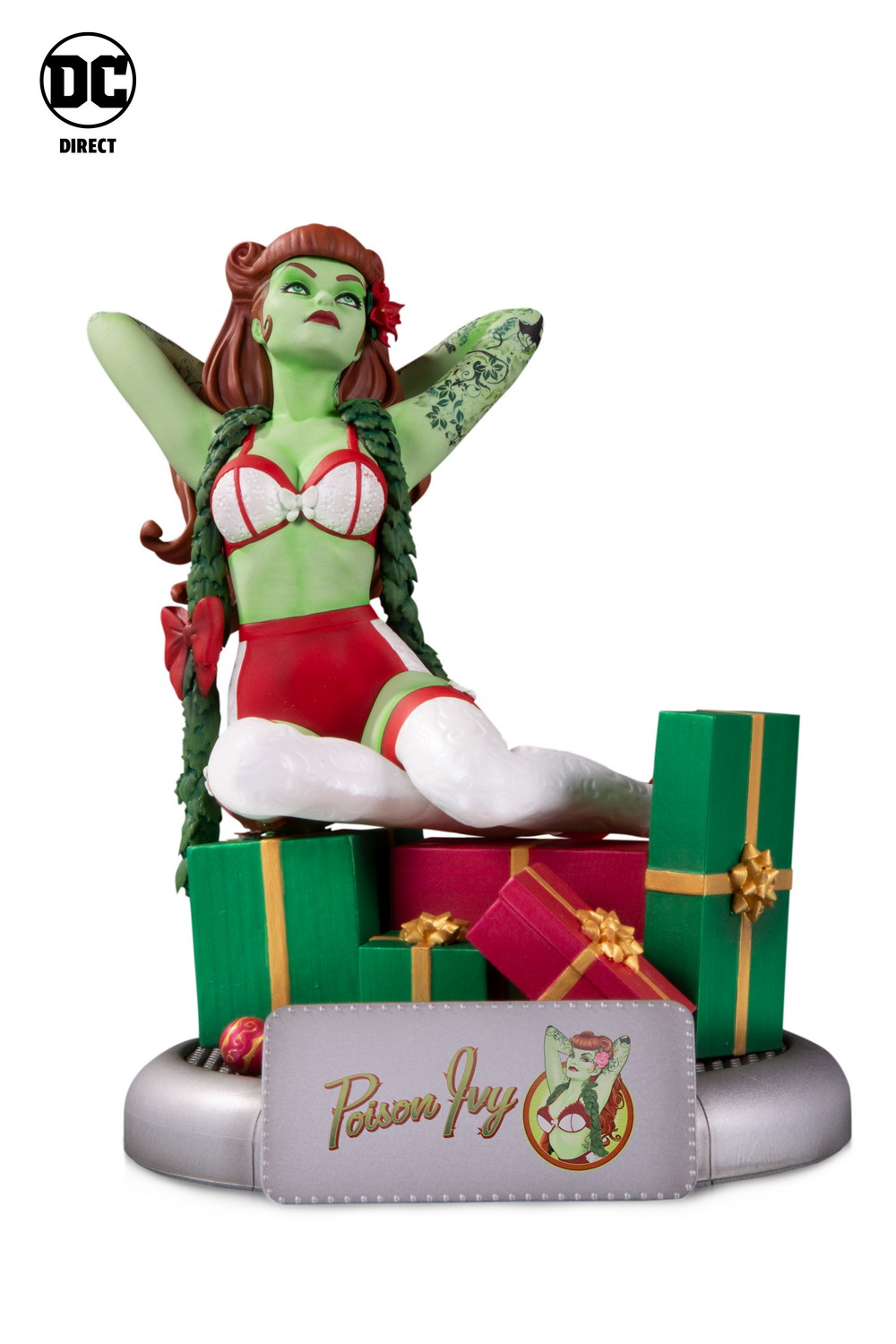 DC Bombshells Poison Ivy Holiday Variant Statue
