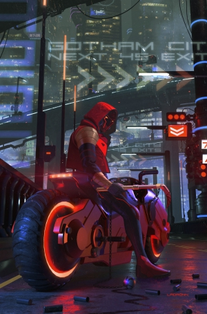 Future State Red Hood art by Giannis Milonogiannis