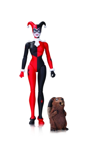 "DC COMICS DESIGNER SERIES: AMANDA CONNER HARLEY QUINN ACTION FIGURES TRADITIONAL HARLEY QUINN – 6.8"" (WITH PET BEAVER) $28"