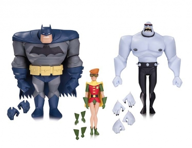 BATMAN: THE ANIMATED SERIES BATMAN, ROBIN AND MUTANT LEADER ACTION FIGURE 3-PACK $70