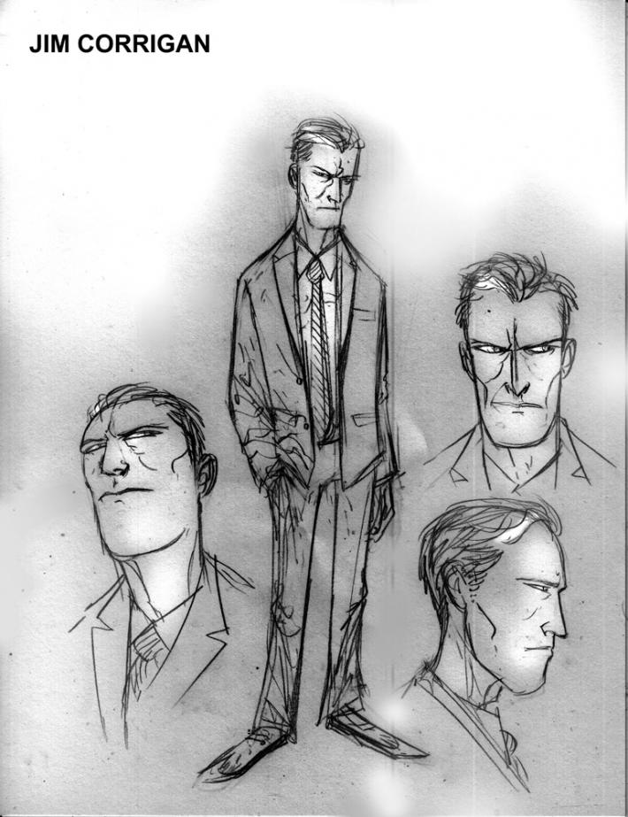 Gotham by Midnight Jim Corrigan Concept Art