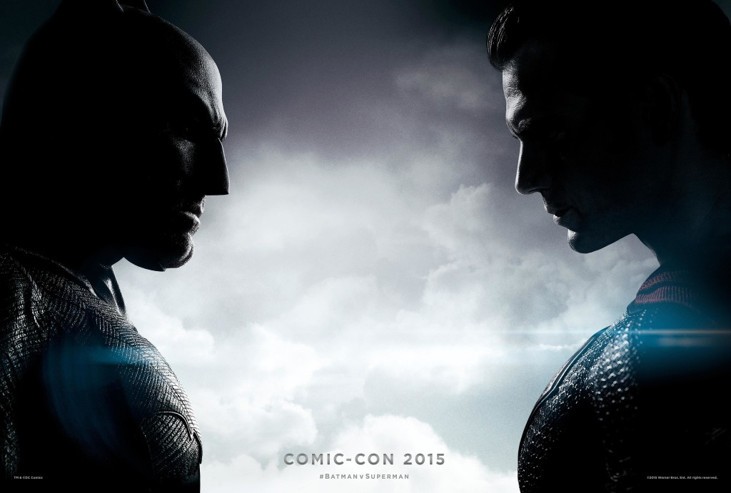 batman v superman con poster
