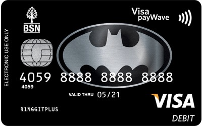 BSN Batman Visa Debit Card