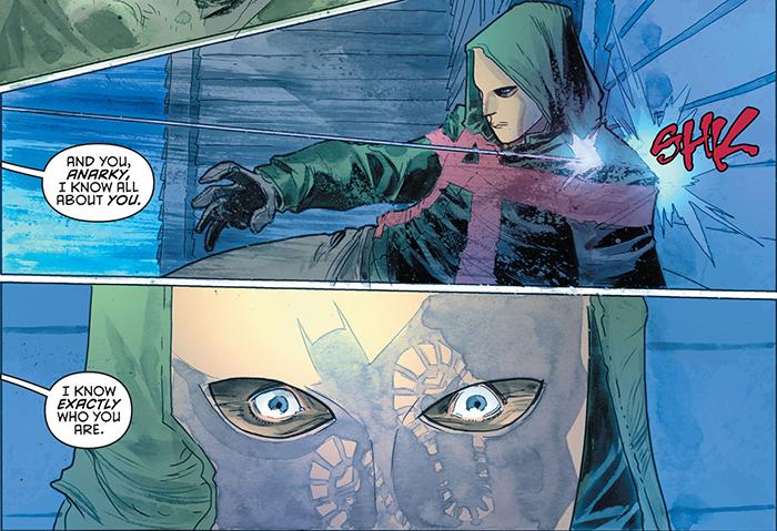 Detective Comics Anarky Sam Young vs Batman