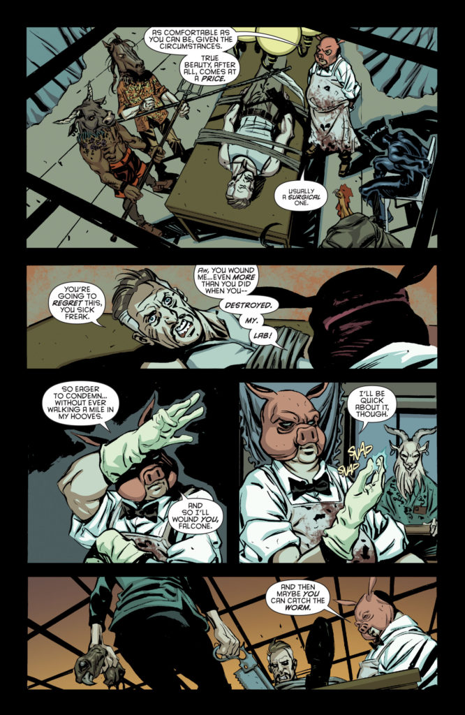 batman eternal #10 pyg threatens falcone