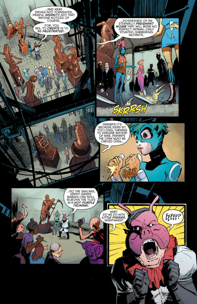 nightwing vol 4 18 pyg's art gallery