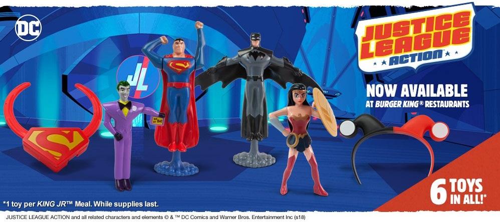 The Batman Universe Burger King Kids Meal Feature Justice League