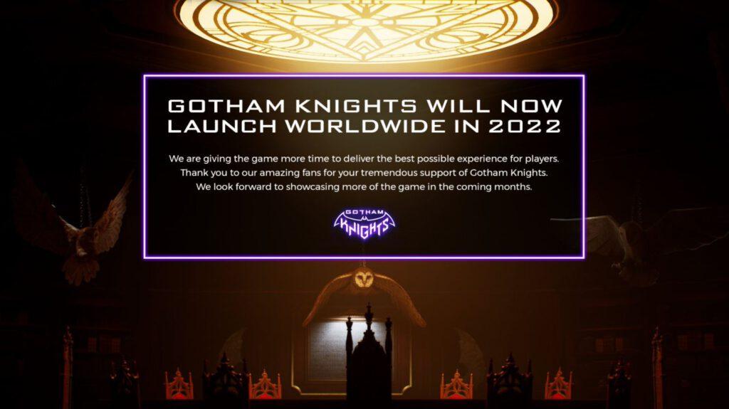 gotham knights delay