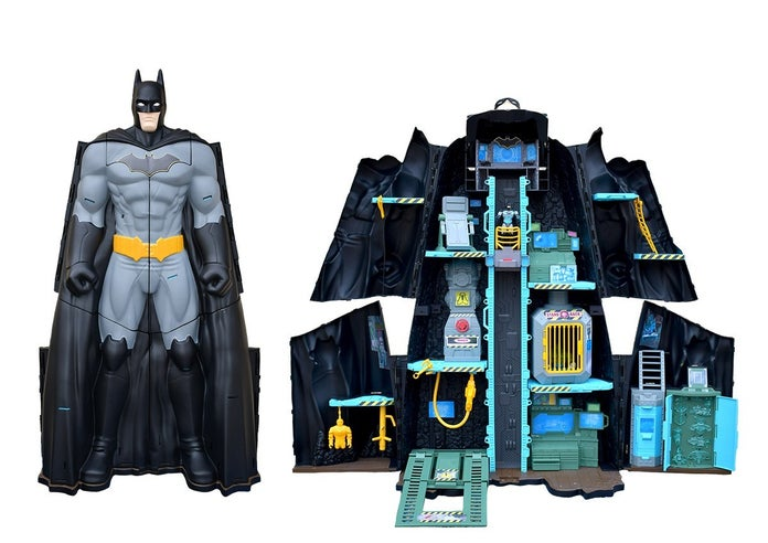 spin master transforming batcave
