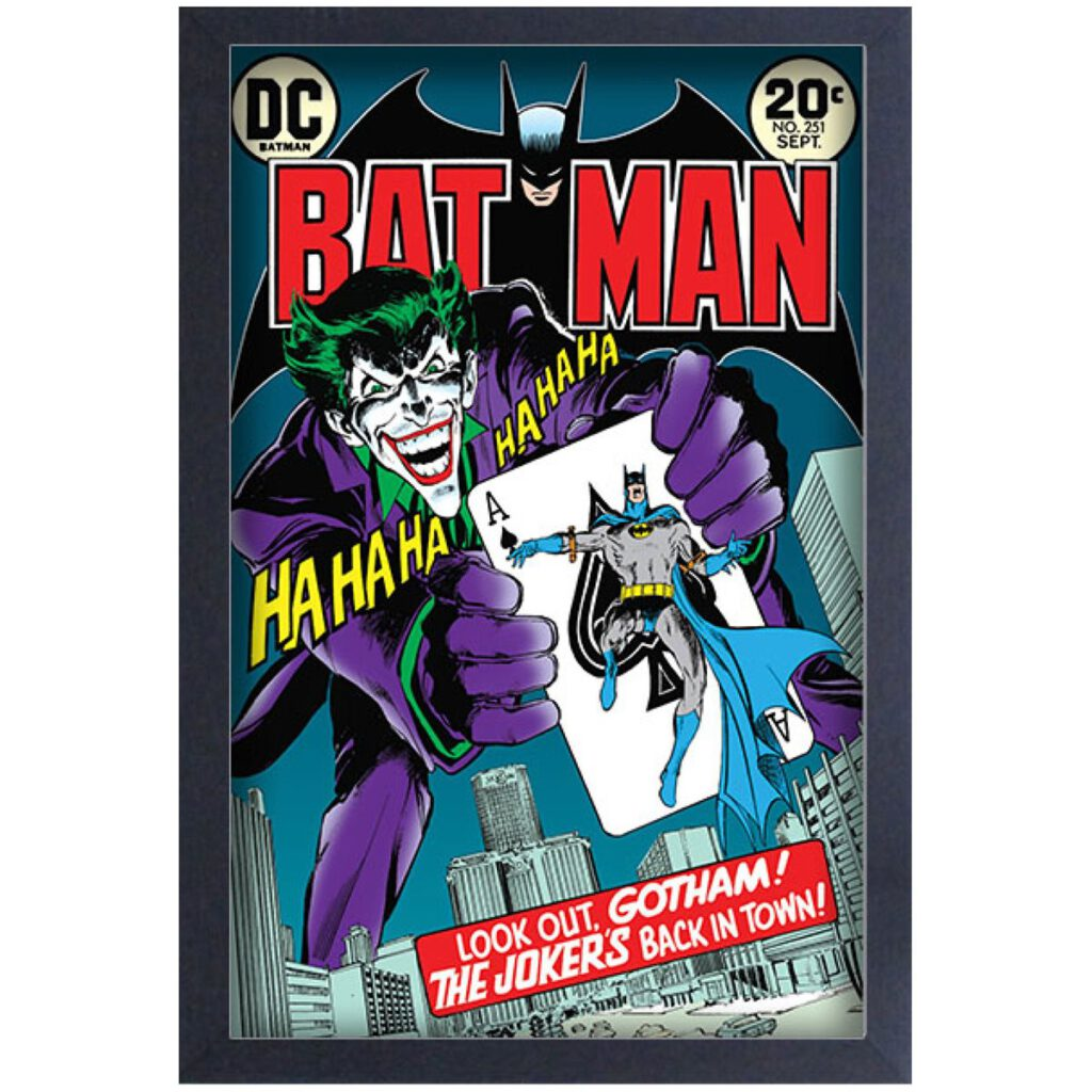 Pyramid America Batman #251 Joker's Back in Town Comic Cover Framed Art Print