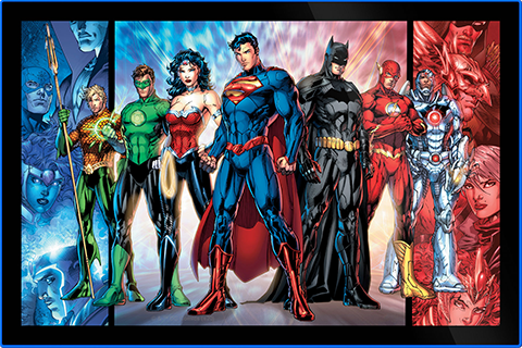 Brandlite Justice League of America LED Poster Sign