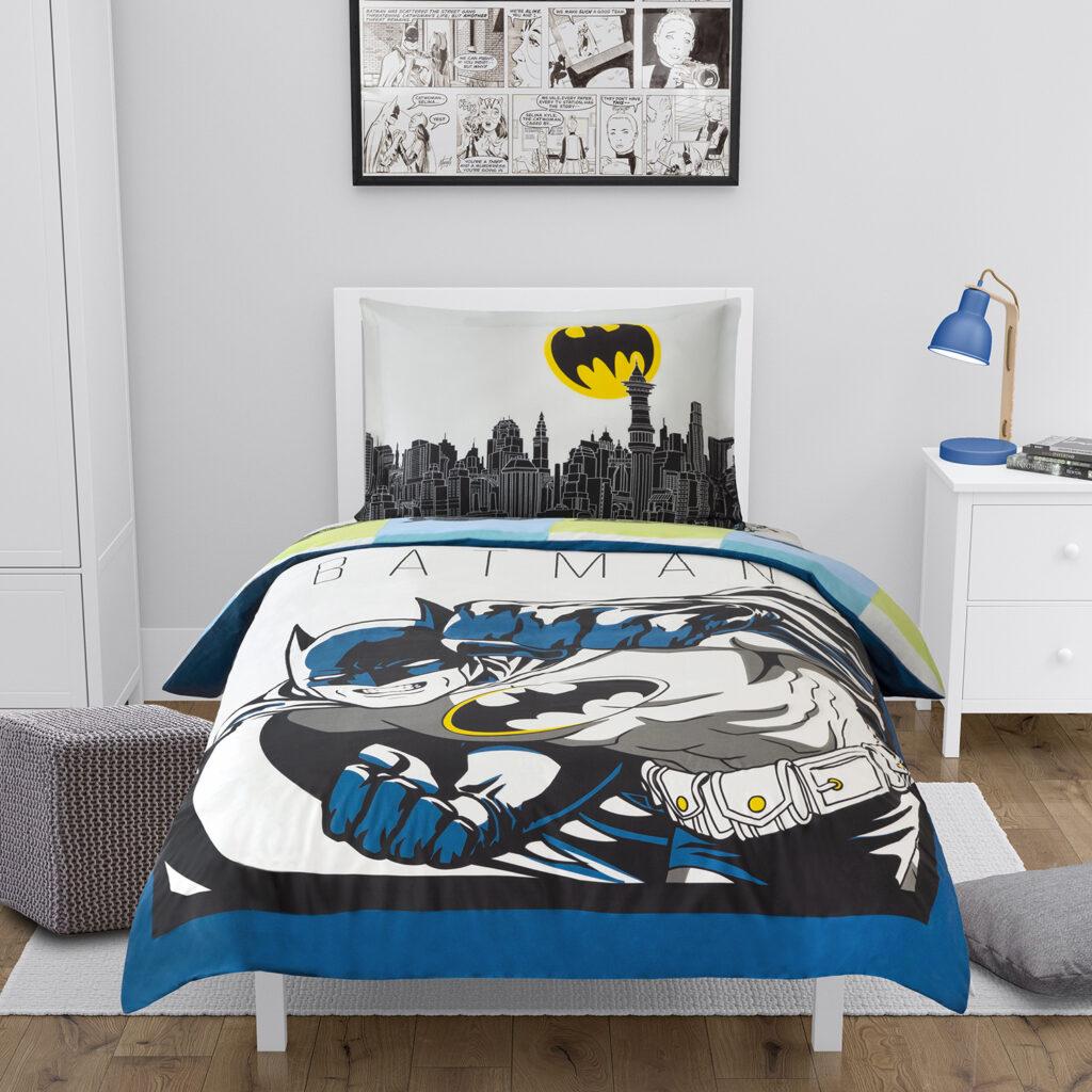 Morning Bird Batman Organic Cotton Duvet Cover and Sham Set