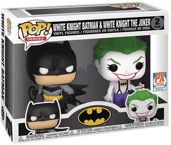 funko sdcc 2021 batman: white knight pop
