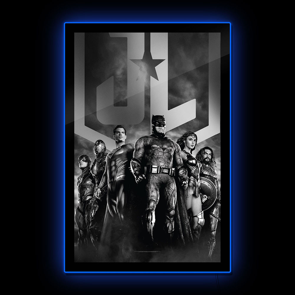 Brandlite Zack Snyder's Justice League Black and White LED Poster Sign