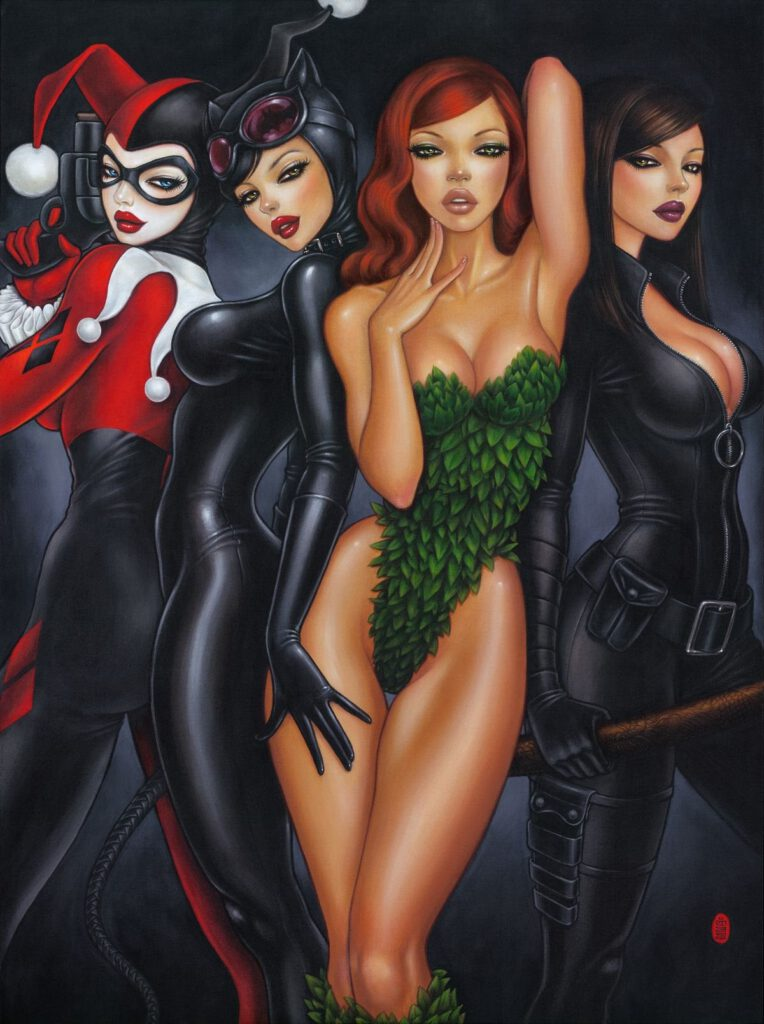 Sideshow Collectibles Bad Girls by Mimi Yoon Fine Art Print