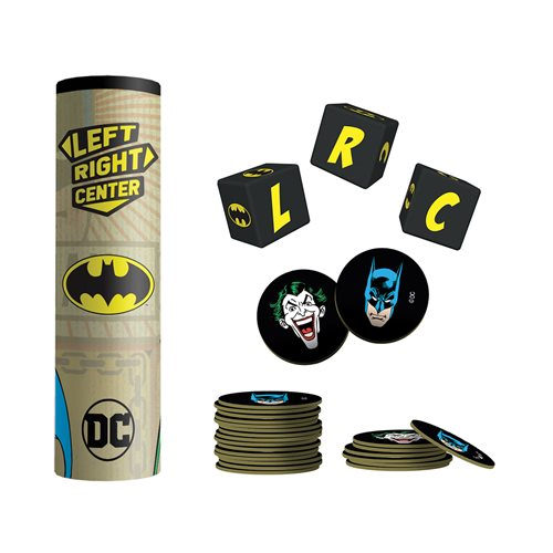 USAOPOLY The Op Games Batman Left Right Center Game