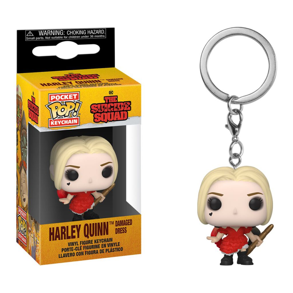 Funko The Suicide Squad Damaged Dress Harley Quinn Pocket Pop Keychain