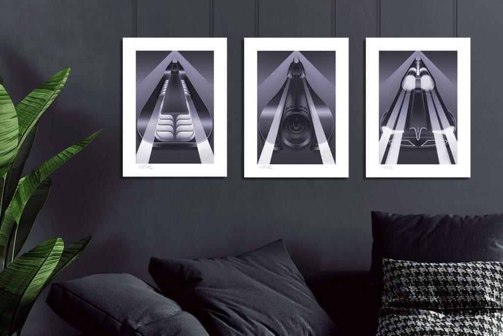 Sideshow Collectibles Fabled Creative Batmobile Art Print Set