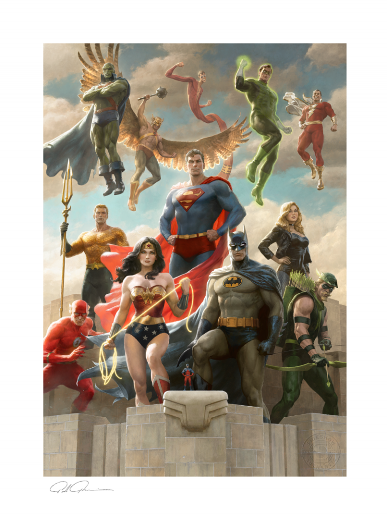 """Sideshow """"The Justice League: Classic Variant"""" by Paolo Rivera Fine Art Print"""